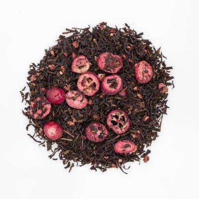 Herbata z żurawiną i malinami