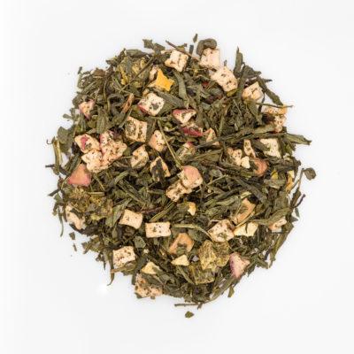 Herbata Sencha Zielone Jabłko-Kiwi susz fotografia