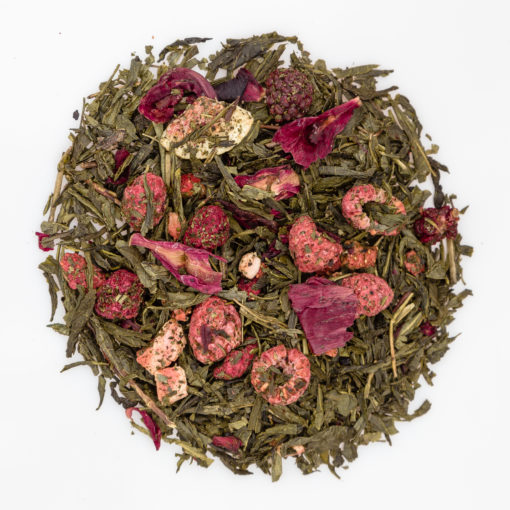 Herbata Sencha Jagodowo-Figowa susz fotografia
