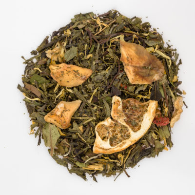 Herbata biała i zielona z przyprawami susz fotografia