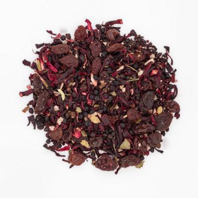 Herbata owocowa rozkoszna pokusa susz fotografia