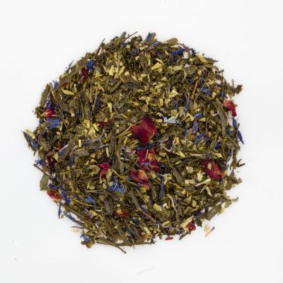 Herbata zielona Sencha migdałowa susz fotografia