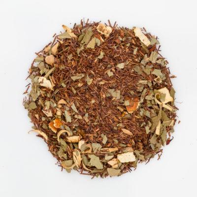 herbata rooibos eukaliptusa z pomarańczą fotografia