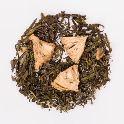 Herbata biała i zielona z gruszką fotografia