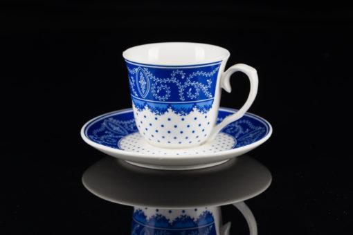 filiżanka biało niebieska fotografia