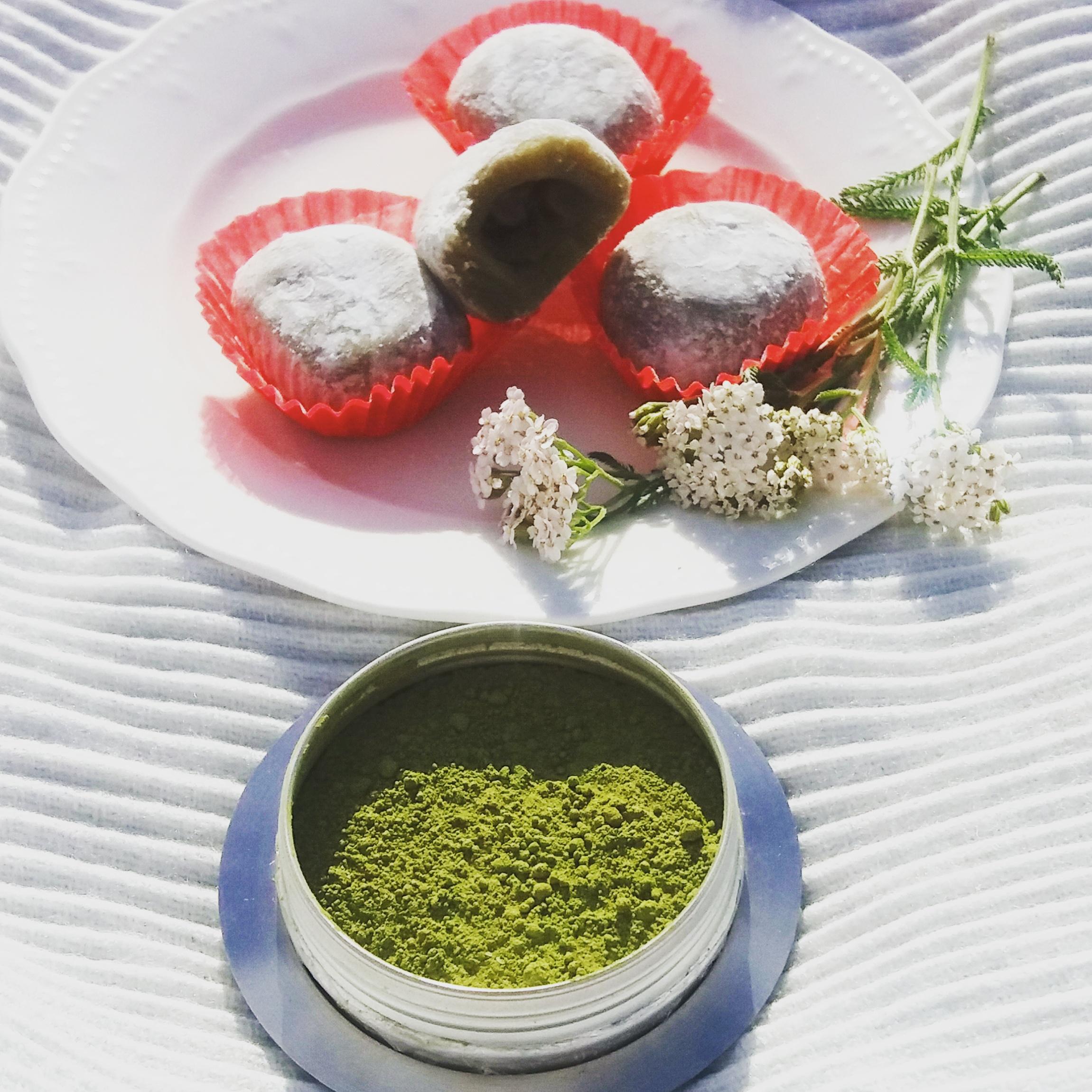 Przepis na ciasteczka ryżowe Matcha Mochi