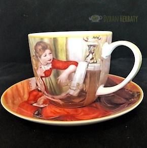filiżanka porcelanowa Carmani z motywem z Renoira