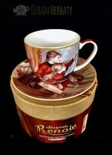 porcelanowa filiżanka Carmani z motywem z obrazu Renoira
