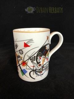 kubek z porcelany z motywami Kandinskiego