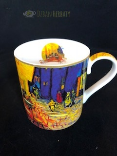 porcelanowy kubek firmy Carmani z motywem obrazu van Gogha