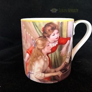 kubek porcelanowy z malarstwem